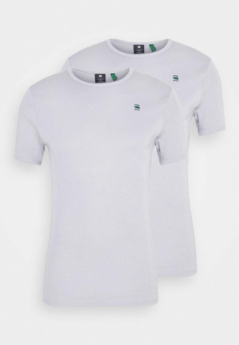 G-Star - BASE 2 PACK - Basic T-shirt - steel grey