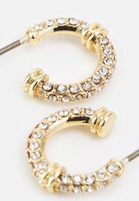 Lauren Ralph Lauren - PAVE C HOOP - Earrings - gold-coloured/cry - 2