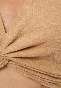 Bershka - Long sleeved top - beige - 4