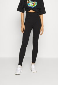 Even&Odd - 2 PACK HIGH WAISTED LEGGINGS - Leggings - black - 2