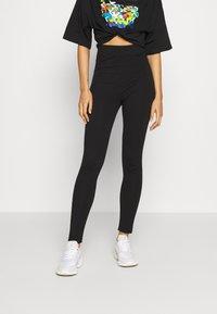 Even&Odd - 2 Pack Leggings High Waisted - Leggings - Trousers - black - 1