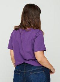 Zizzi - T-shirt basic - purple - 2