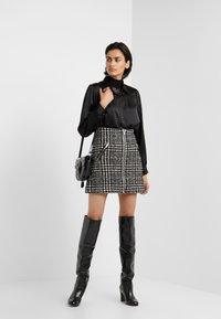 The Kooples - JUPE - A-line skirt - off-white/black - 1