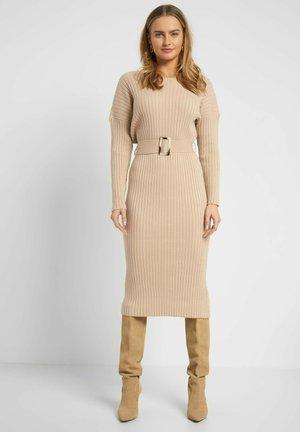Shift dress - autumn beige