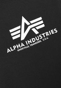 Alpha Industries - BASIC - Print T-shirt - black - 5