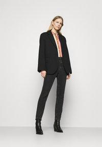 Emily van den Bergh - Button-down blouse - brown/rose/blue - 1