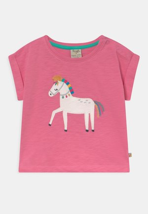 SOPHIA SLUB HORSE - Print T-shirt - pink