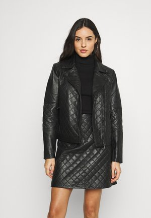 VINAMALI JACKET - Leather jacket - black