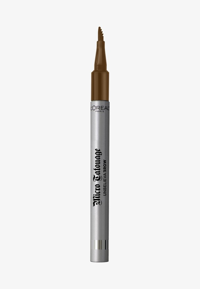 UNBELIEVA BROW MICRO TATOUAGE - Crayon sourciles - 104 chatain