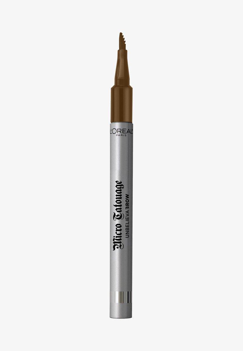L'Oréal Paris - UNBELIEVA BROW MICRO TATOUAGE - Eyebrow pencil - 104 chatain