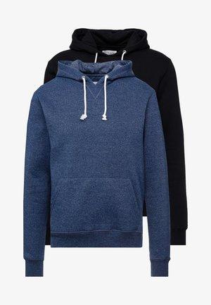 2 PACK - Bluza z kapturem - dark blue/ black