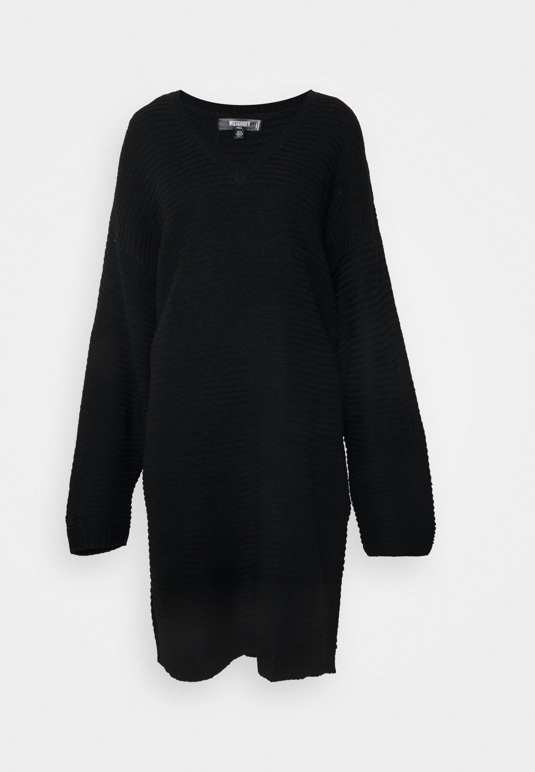 Mujer V NECK DRESS - Vestido de punto