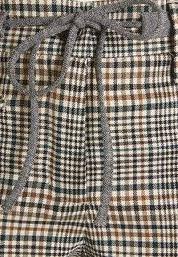 Opus - MORIEL MIXED CHECK - Trousers - sandshell - 6