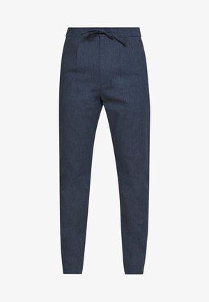 WIDE PANTS ELASTIC - Kalhoty - dark blue mix