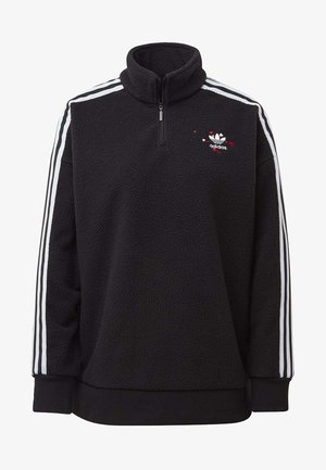 HALF-ZIP SWEATSHIRT - Fleece jumper - black