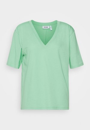 LAST V NECK - T-shirt basic - darker mint