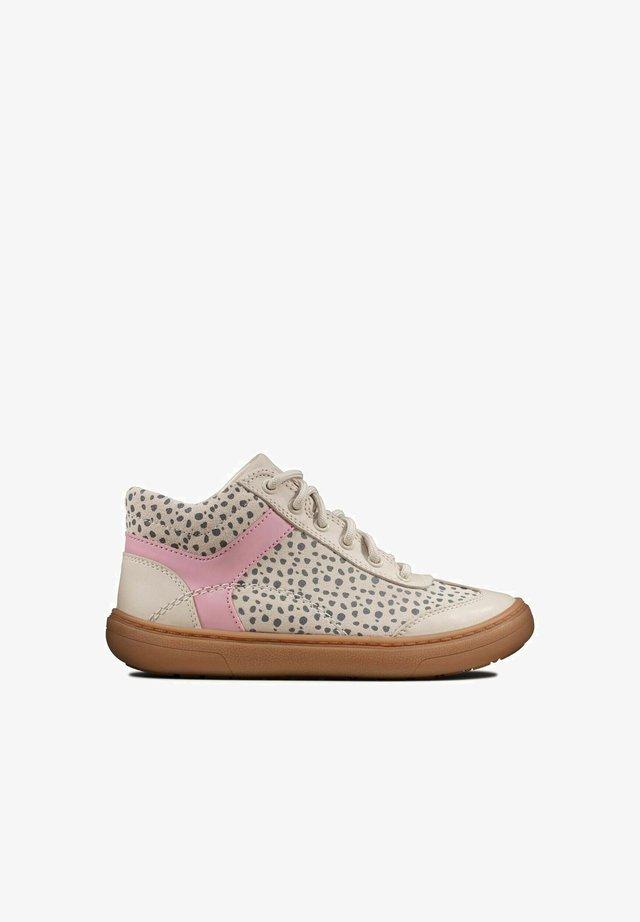 Sneakers hoog - natural combi