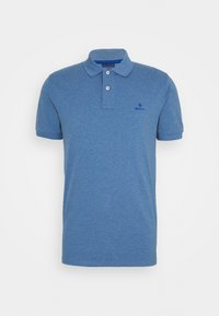 CONTRAST COLLAR RUGGER - Polo shirt - denim blue