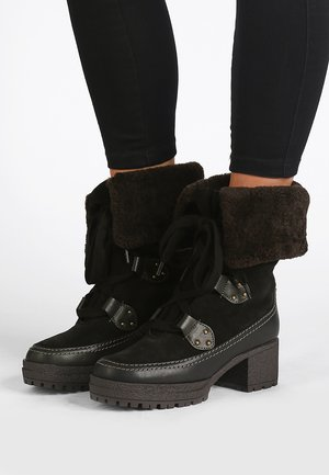 VERENA - Lace-up ankle boots - black/crosta