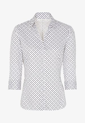 MODERN CLASSIC - Button-down blouse - black/white