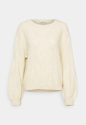 BIG CABLE - Jumper - cream beige
