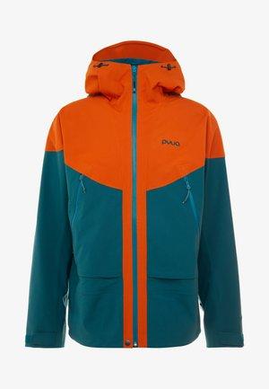 GORGE - Snowboardová bunda - rusty orange/petrol blue