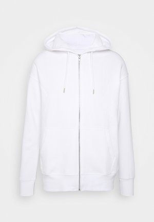 UNISEX - veste en sweat zippée - white