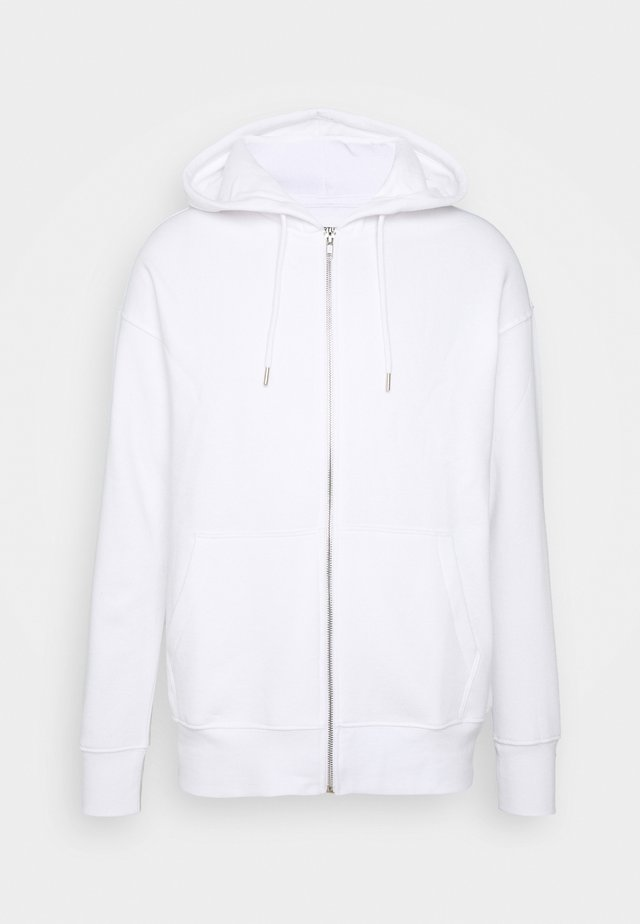 UNISEX - Zip-up hoodie - white
