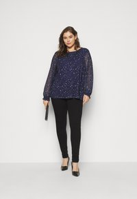 MY TRUE ME TOM TAILOR - BLOUSE WITH PRINT - Blouse - navy - 1
