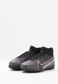 Nike Performance - JR MERCURIAL 7 ACADEMY TF UNISEX - Astro turf trainers - black - 3