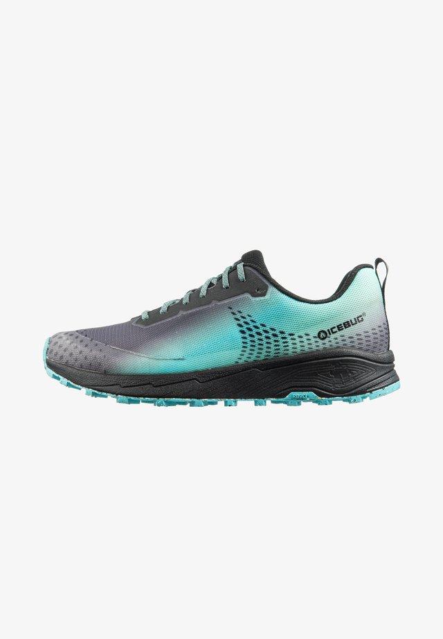 Trail running shoes - black/lightmint