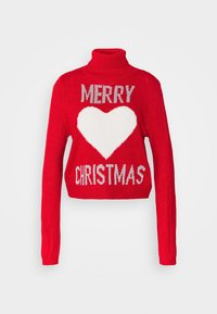 ONLY - ONLXMAS LOVE - Jumper - high risk red - 3