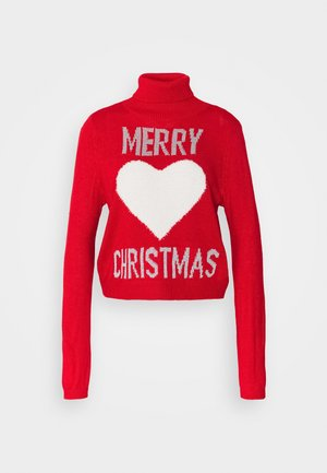ONLXMAS LOVE - Jumper - high risk red