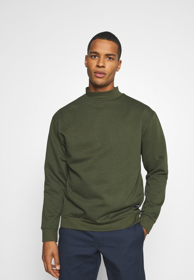 FUNNEL NECK CREW - Sweatshirt - khaki