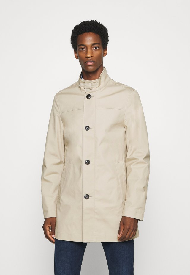 STAND UP COLLAR COAT - Manteau court - beige