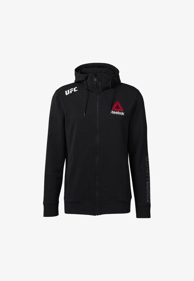 À CAPUCHE UFC FIGHT NIGHT BLANK WALKOUT - veste en sweat zippée - black