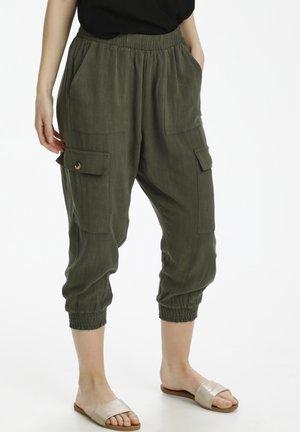 Cargo trousers - grape leaf