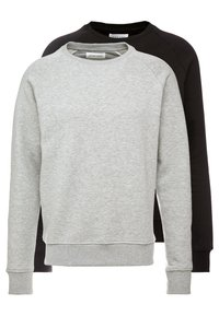 Pier One - 2 PACK - Sweatshirt - mottled light grey/black - 0