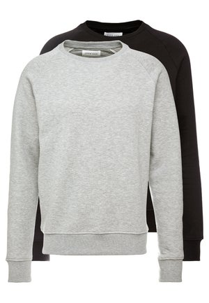 2 PACK - Sweatshirts - mottled light grey/black