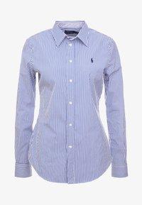 Polo Ralph Lauren - STRETCH  SLIM FIT - Button-down blouse - blue/white - 3