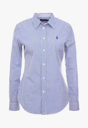 STRETCH  SLIM FIT - Camisa - blue/white