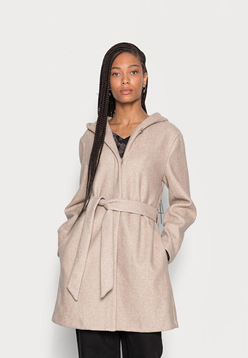 Freequent - HOODY - Classic coat - birch melange