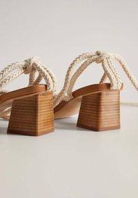Mango - CORD - T-bar sandals - ecru - 4