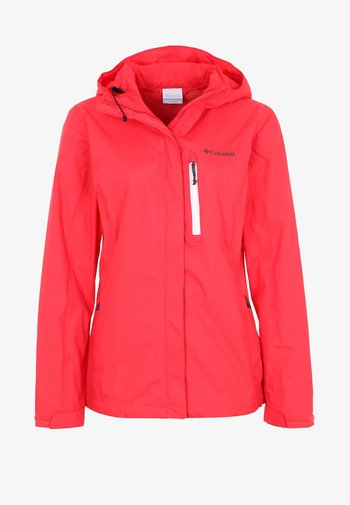 POURING ADVENTURE JACKET - Giacca hard shell - red camellia/white