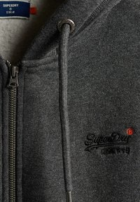 Superdry - CLASSIC ZIPHOOD - Zip-up hoodie - dark marl - 3