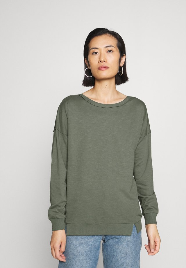 Sweatshirt - khaki green