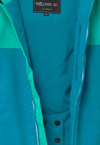 TrollKids - GIRLS HALLINGDAL - Snowboardjakke - light petrol/dark mint/white - 2