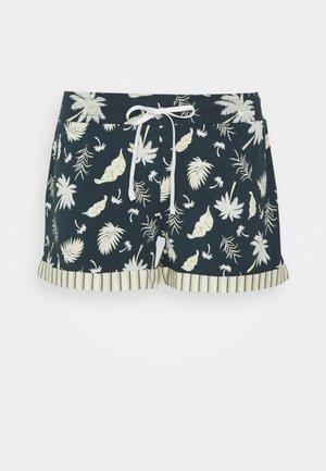 DAMEN SHORTS PALM TREE SLEEP - Pyjama bottoms - midnight