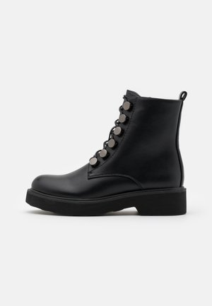 Platform ankle boots - soft nero