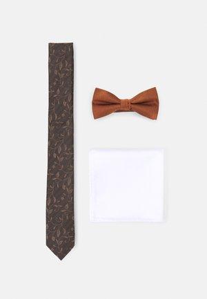 JACGOLDIE NECKTIE SET - Tie - black/bronze